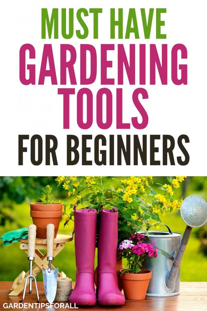 A list of basic gardening tools beginners need